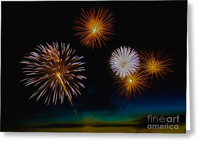 Purple Fireworks Greeting Cards - Bombs Bursting In The Air Greeting Card by Robert Bales