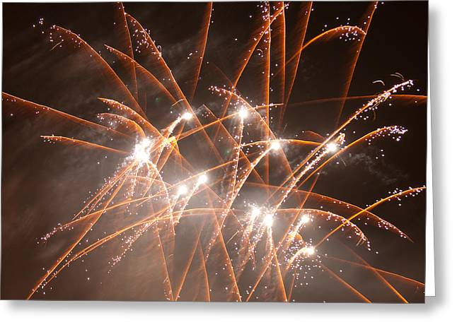 Pyrotechnics Greeting Cards - Bombs Bursting Greeting Card by Paul Mangold
