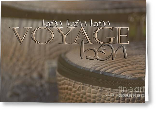 Apricot Digital Art Greeting Cards - Bon Voyage Greeting Card by Vicki Ferrari Photography