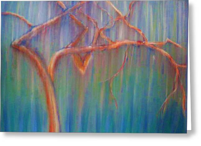 Abstract Nature Pastels Greeting Cards - Bonaventure Tree Greeting Card by Dorneisha Batson