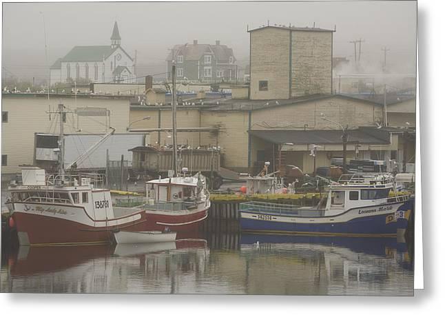 Port Town Greeting Cards - Bonavista, Newfoundland And Labrador Greeting Card by John Sylvester