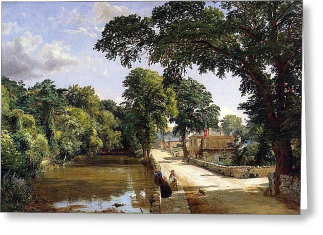 Country Cottage Greeting Cards - Bonchurch Isle of Wight Greeting Card by Jasper Francis Cropsey