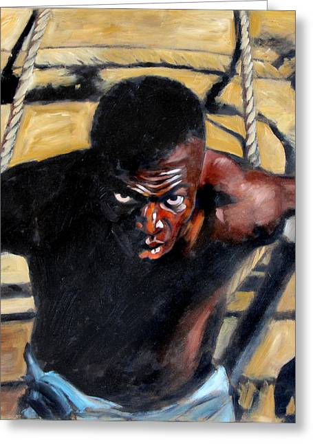 Slavery Paintings Greeting Cards - Bondage Greeting Card by John Lautermilch