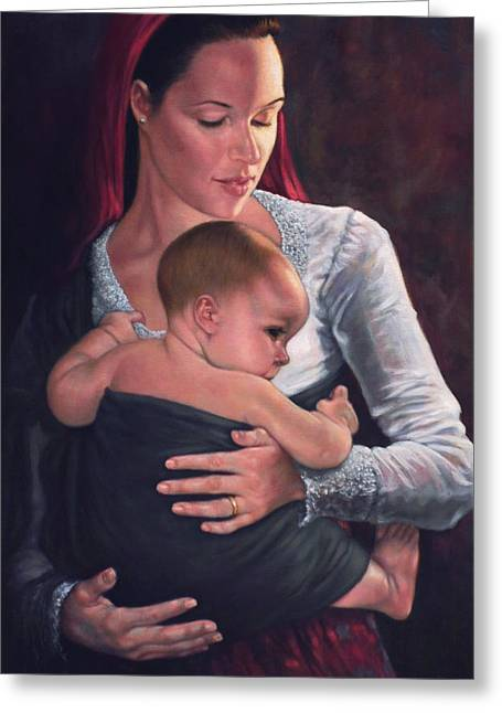 Mother Greeting Cards - Bonding Greeting Card by Harvie Brown