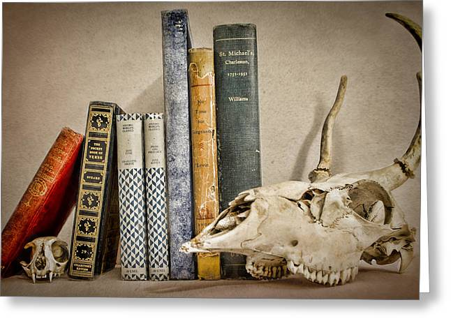 Hardcover Greeting Cards - Bone Collector Library Greeting Card by Heather Applegate