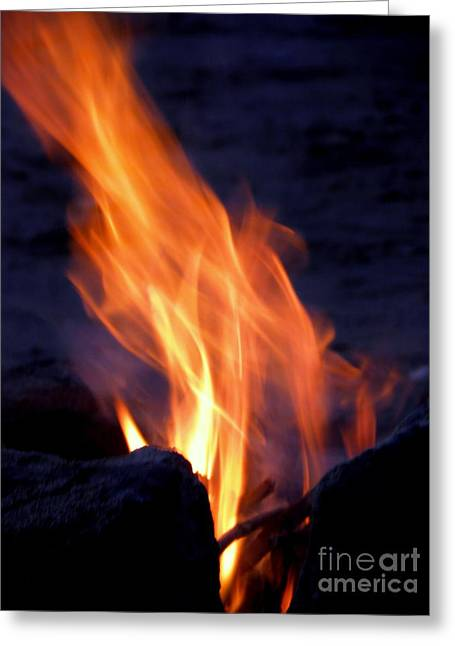 Stein Greeting Cards - Bonfire Greeting Card by Tanja Cathrin  Liebig