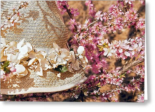 Susan Leggett Digital Greeting Cards - Bonnet in Blooms Greeting Card by Susan Leggett