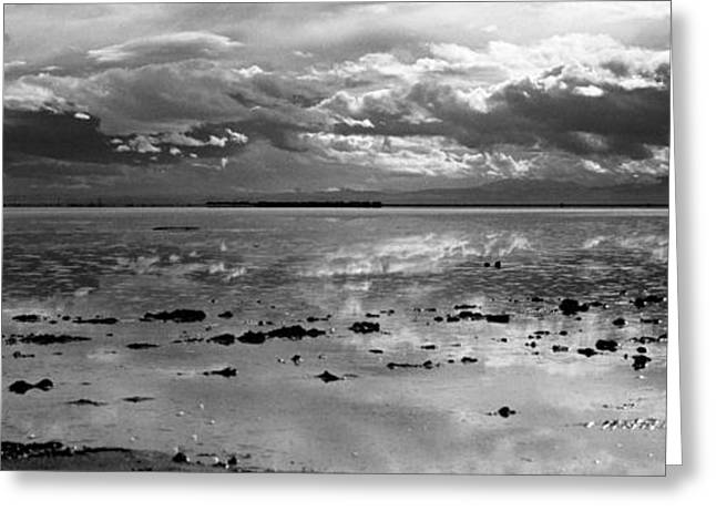 Reflection Of Sun In Clouds Greeting Cards - Bonneville Salt Flats Two Greeting Card by Isak Hanold