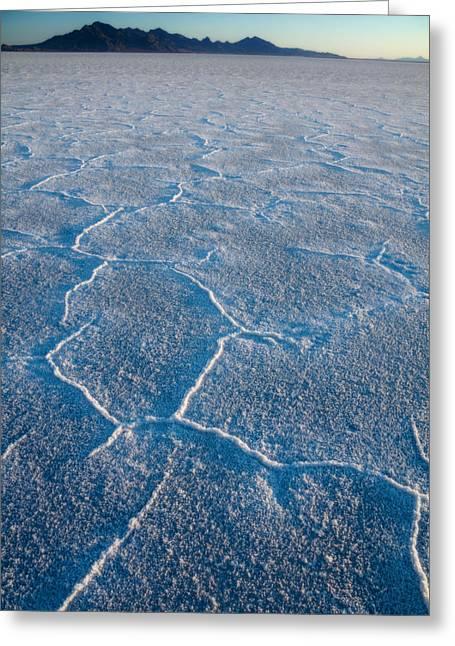 Bonneville Salt Flats Greeting Cards - Bonneville Salt Flats Utah Greeting Card by Utah Images