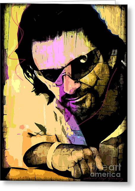 Bono Greeting Card by David Lloyd Glover