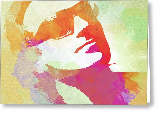 Bono Greeting Card by Naxart Studio