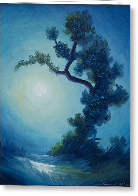 Colbalt Blue Greeting Cards - Bonsai I Greeting Card by James Christopher Hill