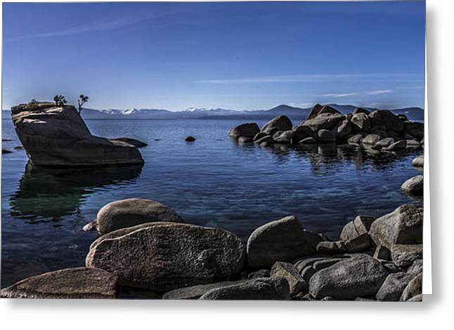 Bonsai Rock Lake Tahoe Greeting Card by Brad Scott
