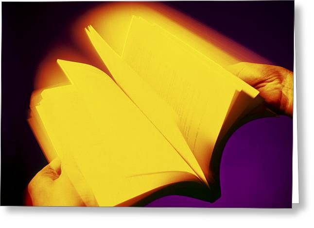 Literate Greeting Cards - Book Greeting Card by Johnny Greig