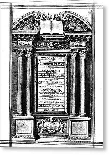 Book Of Common Prayer Greeting Card by Granger