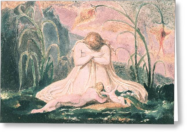 Relief Print Paintings Greeting Cards - Book of Thel Greeting Card by William Blake