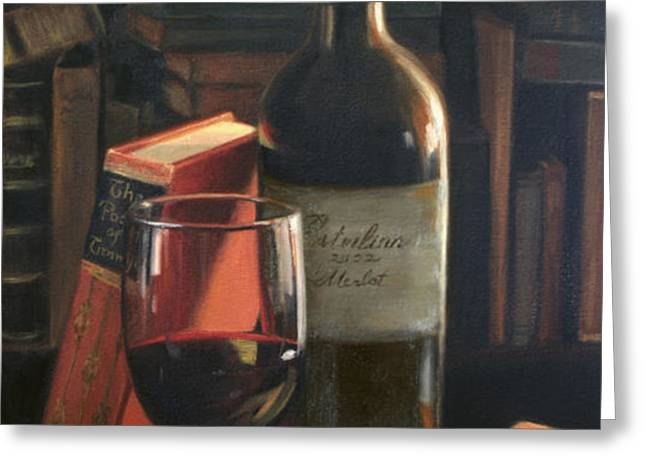 Booked for the Evening Greeting Card by Anna Bain
