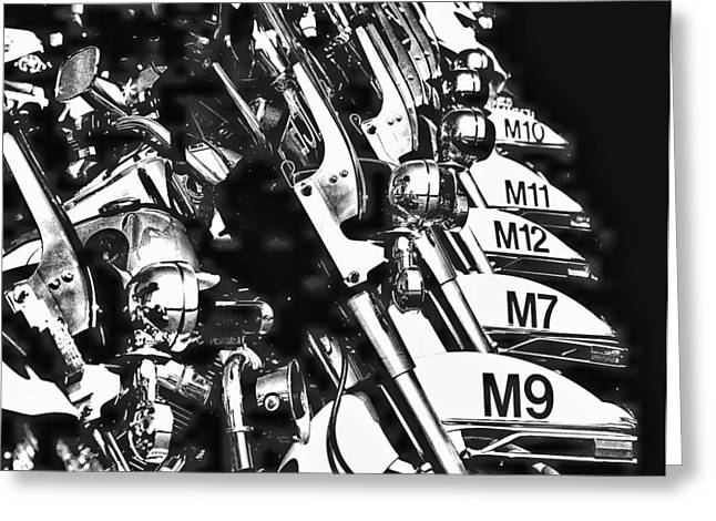 Police Motorcycles Greeting Cards - Bookem Dano Greeting Card by Kenneth Mucke