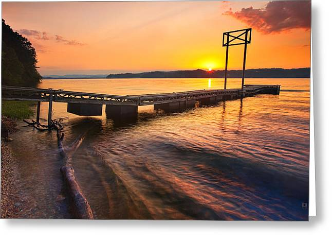 Best Sellers -  - Tennessee River Greeting Cards - Booker T Dock 3 Greeting Card by Steven Llorca
