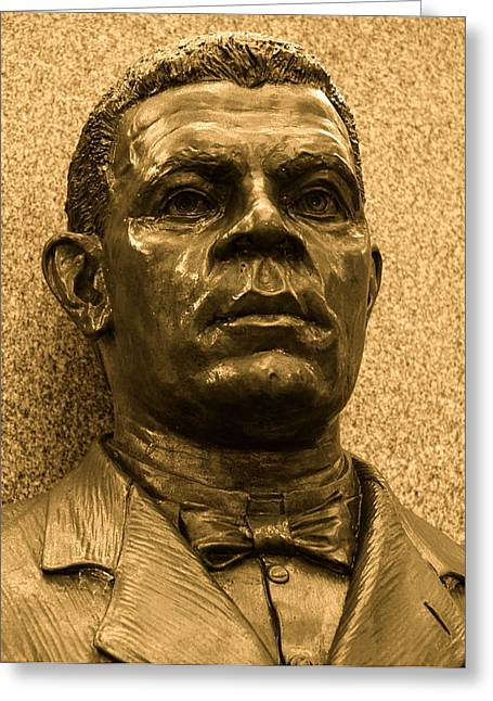 Booker T. Washington Greeting Cards - Booker T Greeting Card by Kusumba Gallery
