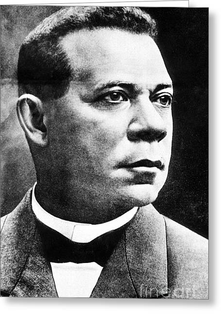 Booker T. Washington Greeting Cards - Booker T. Washington, African-american Greeting Card by Photo Researchers