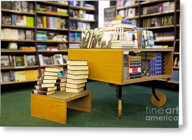 Bookcase Greeting Cards - Books Displayed on a Modern Table Greeting Card by Jaak Nilson