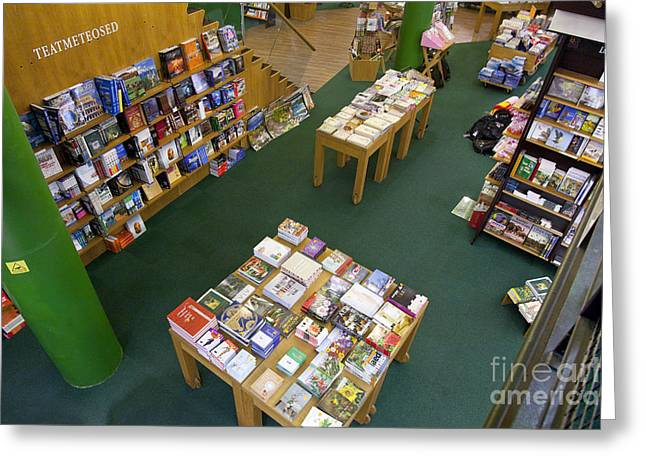 Bookcase Greeting Cards - Books on Display Greeting Card by Jaak Nilson