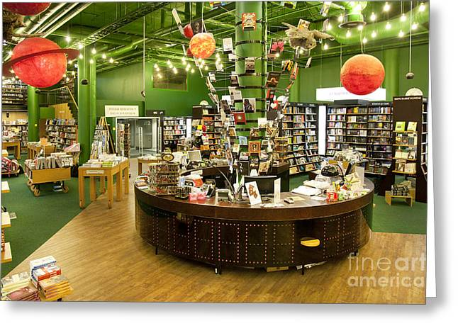 Bookcase Greeting Cards - Bookstore Help Desk Greeting Card by Jaak Nilson