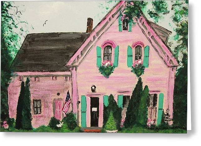 Bookstore in Cape Cod Greeting Card by Suzanne  Marie Leclair