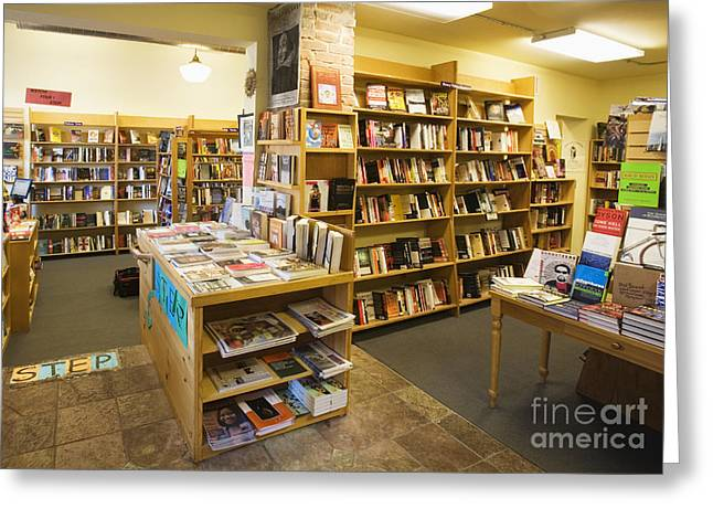 Hardcover Greeting Cards - Bookstore Stock on Shelves Greeting Card by Andersen Ross