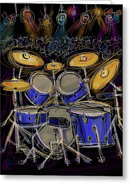 Drum Throne Greeting Cards - Boom crash Greeting Card by Russell Pierce