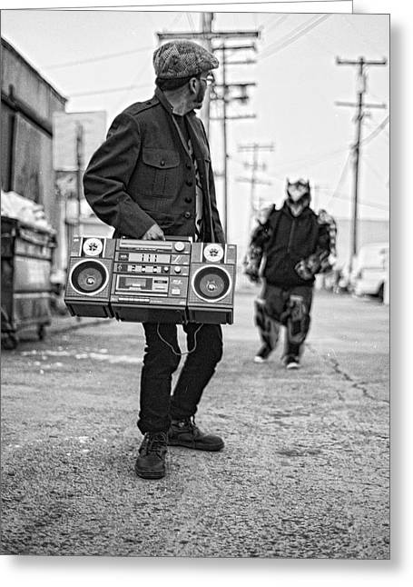 Boomboxx Chuck Vs Machinecore Greeting Card by Ukeim Ortiz
