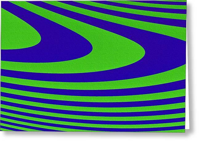 Geometrical Art Greeting Cards - Boomerang Greeting Card by Carolyn Marshall