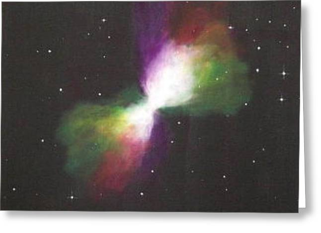 Bloat Greeting Cards - Boomerang Nebula Greeting Card by Jim Ellis