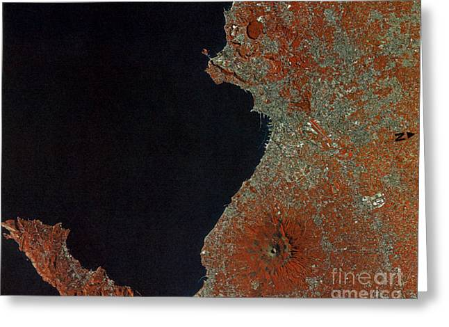 Aerial Photograph Greeting Cards - Boot Of Italy, Satellite Image Greeting Card by Science Source