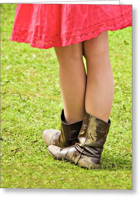 Legs Greeting Cards - Boot Scootin Greeting Card by Meirion Matthias
