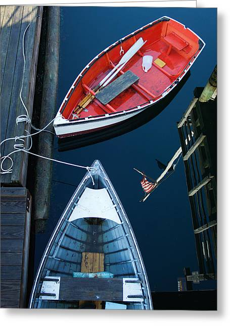 Boothbay Boats 1 Greeting Card by Ron St Jean