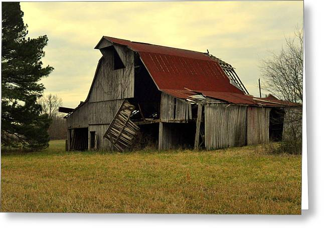 Marty Koch Greeting Cards - Bootheel Barn Greeting Card by Marty Koch