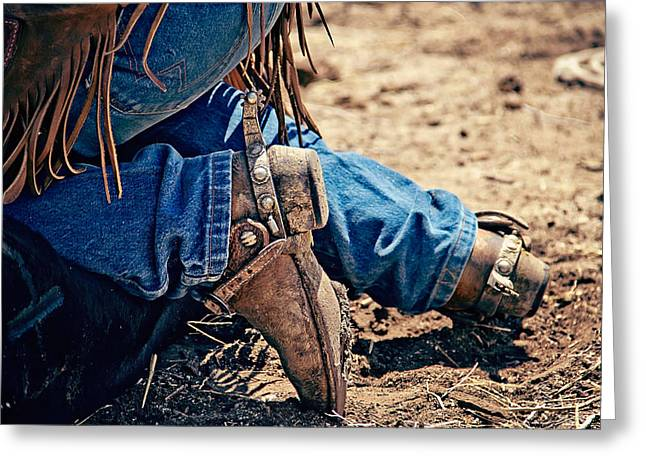 Boots And Spurs Greeting Card by Megan Chambers