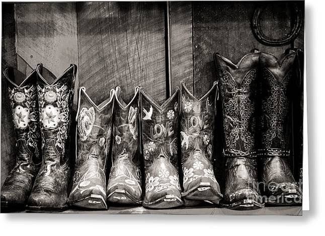 Sherry Davis Greeting Cards - Boots Greeting Card by Sherry Davis