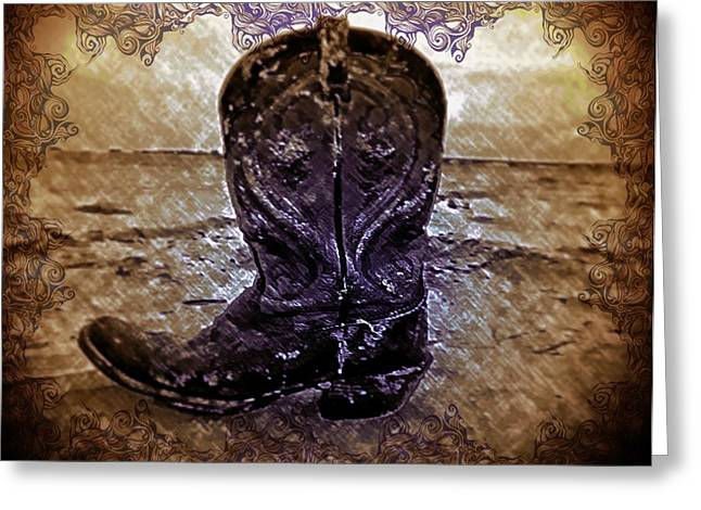 Boots Digital Art Greeting Cards - Boots Greeting Card by Tisha McGee