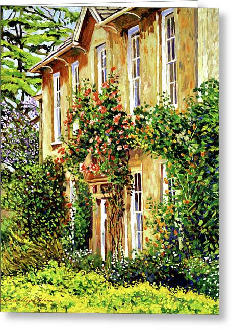 Vines Greeting Cards - Bordeaux Garden House Greeting Card by David Lloyd Glover