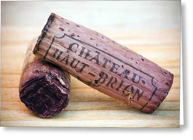 Bordeaux Wine Corks Greeting Card by Frank Tschakert