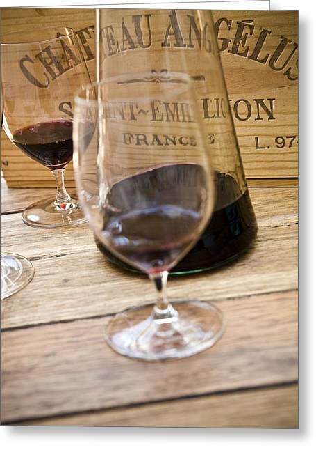 Wine Deco Art Photographs Greeting Cards - Bordeaux Wine Tasting Greeting Card by Frank Tschakert