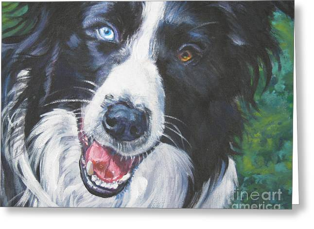 Collie Greeting Cards - Border Collie Greeting Card by Lee Ann Shepard