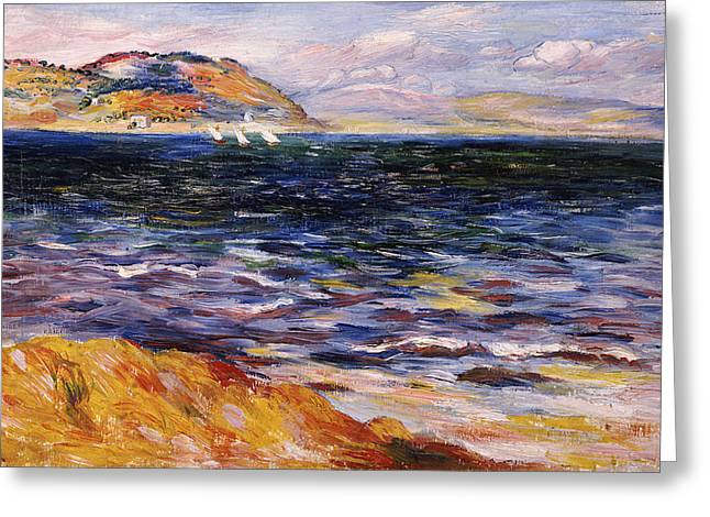 Ripples In The Water Greeting Cards - Bordighera Greeting Card by Pierre Auguste Renoir