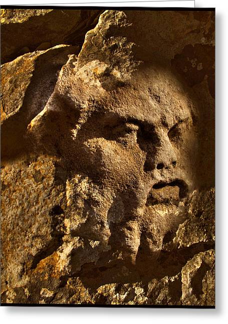Born In Stone 3 Greeting Card by Algis Kemezys