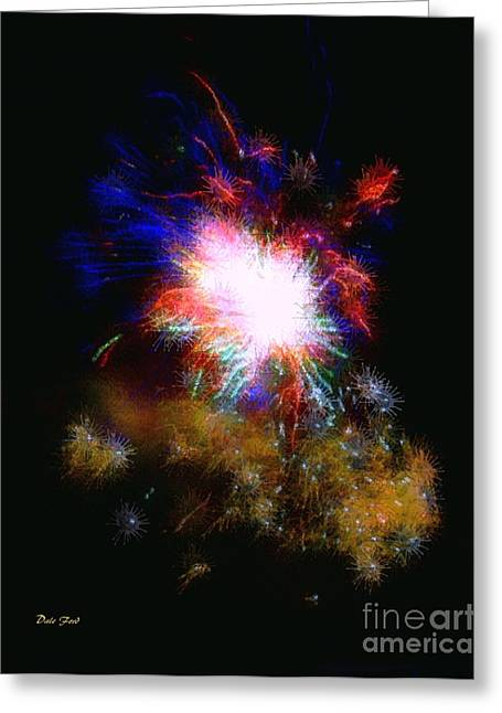 4th July Digital Greeting Cards - Born on the 4th of July Greeting Card by Dale   Ford