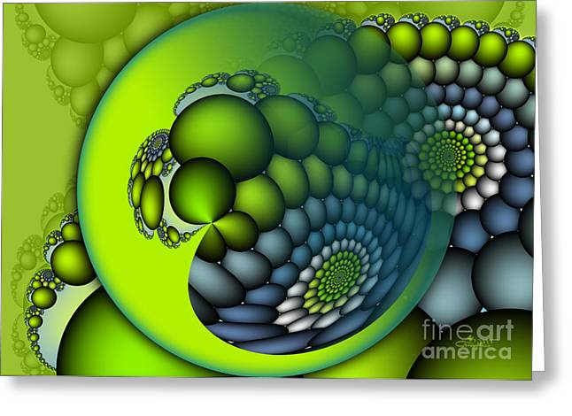 Recently Sold -  - Green Abstract Greeting Cards - Born to Be Green Greeting Card by Jutta Maria Pusl