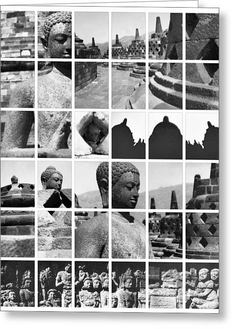 Statue Portrait Greeting Cards - Borobudur in frame Greeting Card by Mario Bennet